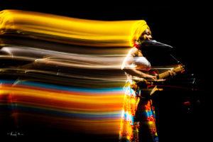 Fatouma Diawara, durant le concert de Matthieu Chedid : Lamomali, Bercy 2017
