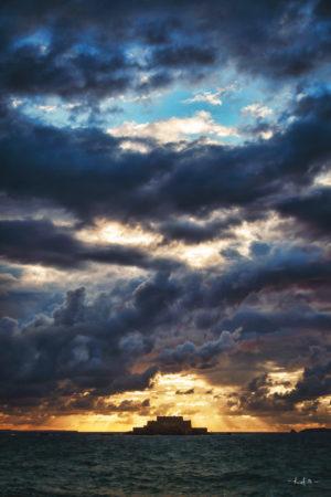 Chaotic but Beautiful Sky, St Malo - Photo Rod Maurice